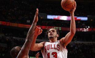 Le Français Joakim Noah, des Chicago Bulls, contre Orlando, le 6 novembre 2012.