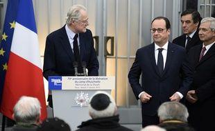 François Hollande au mémorial de la Shoah à Paris le 27 janvier 2015.