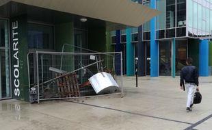 Le campus du Tertre bloqué, le 6 décembre 2018, à Nantes.