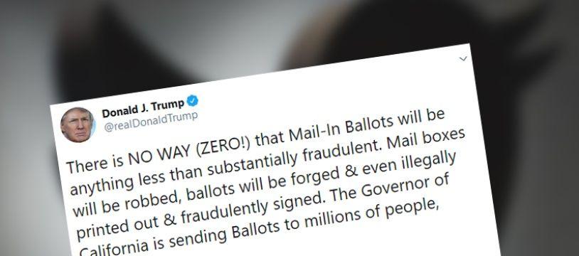 Une mention «vérifiez les faits» ajoutée par Twitter sur un tweet de Donald Trump.