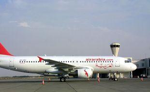 Illustration d'un avion de la compagnie Air Arabia qui débarque ce vendredi à l'aéroport de Rennes.