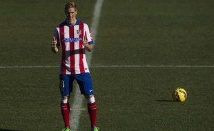 Fernando Torres fait son retour en Espagne, le 4 janvier 2014 à Vicente Calderon.