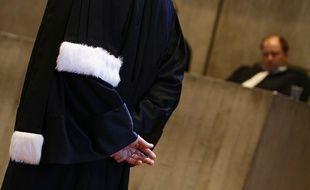 Lille, le 27 janvier 2012. Illustration sur les avocats au tribunal de grande instance de Lille.