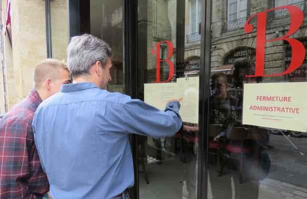 Bordeaux fermeture administrative de la c l bre brasserie for Porte quinze bordeaux