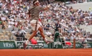 Roger Federer a remporté son premier tour à Roland-Garros face à Sonego, le 26 mai 2019.