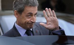 Le président du parti LR Nicolas Sakozy, le 22 janvier 2016 à l'Elysée à Paris.