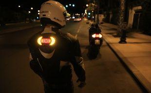 La startup toulousaine Road Light est présente au CES Las Vegas 2019 pour présenter son système créé pour les motards et ses nouveaux clignotants pour les cyclistes.