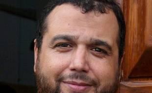 Portrait de l'Imam Mohamed Khattabi le 25 octobre 2002 à la sortie de la mosquée de la cité de Valdegour à Nîmes