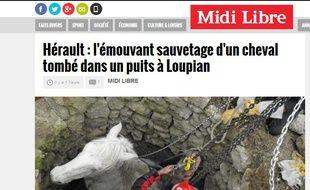 capture d'écran du site du Midi Libre