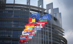 Le bâtiment du parlement européen à Strasbourg.
