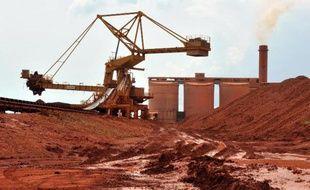 Une mine de bauxite à Kamsar, au nord de Konakry en Guinée (illustration).