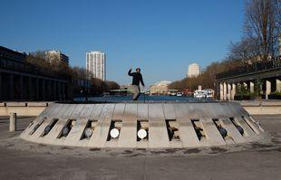 24 mars 2020, place de la Rotonde, à Paris, lors du premier confinement.