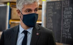 Laurent Wauquiez a annoncé le 11 mai qu'il était candidat à sa propre succession à la tête de la région Auvergne-Rhône-Alpes.