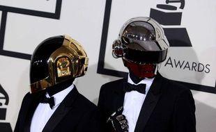 Les Daft Punk à la cérémonie de Grammy Awards, le 26 janvier 2014.