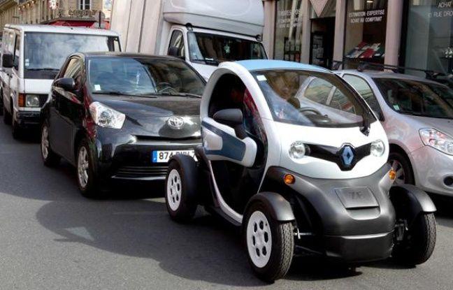 Une Twizy, le nouveau véhiculeélectrique de Renaultà Paris le 4 avril 2012.