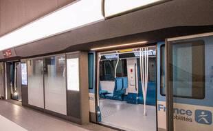 La future rame des lignes 15, 16 et 17 est à découvrir à la Fabrique du Métro à Saint-Ouen.