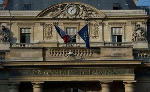 Paris le 27 mars 2012. Illustration facade du Conseil d'Etat sur la place du palais royal a Paris.