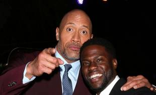 Dwayne Johnson et Kevin Hart en 2017