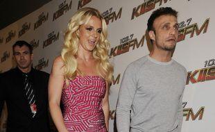La chanteuse Britney Spears et son manager, Larry Rudolph