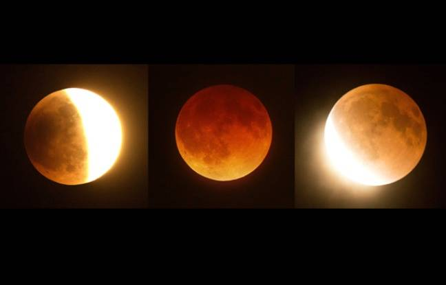 pourquoi la lune est rouge lors d'une éclipse