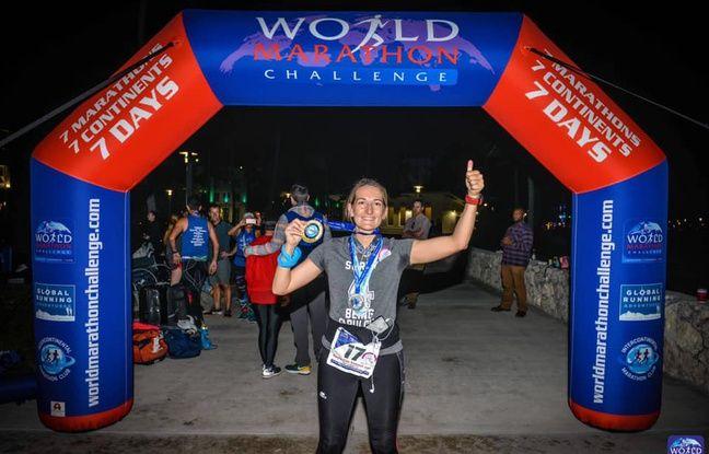 Emma Clair Dumont a enchaîné sept marathons en sept jours, dont un sur l'Antarctique.