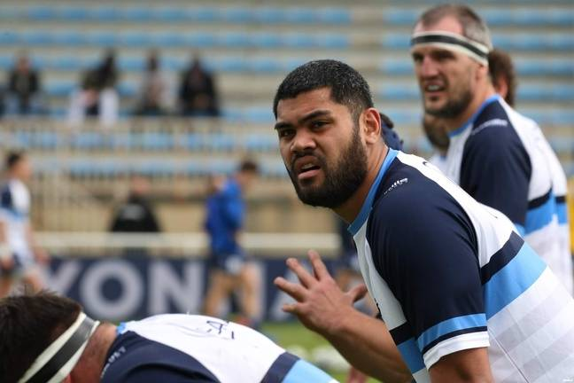 Le deuxième ligne Alexandre Manukula, l'un des deux joueurs prêtés par le Stade Toulousain à Colomiers avec le pilier Hugo Pirlet.