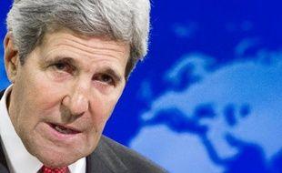 John Kerry, le secrétaire d'Etat américain, le 28 juillet 2014 à Washington lors d'une conférence de presse