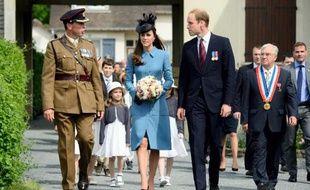 Le prince William et sa femme Kate arrivent en Normandie pour rencontrer des vétérans britanniques dans le cadre des cérémonies pour marquer le 70e anniversaire du Débarquement, le 6 juin 2014