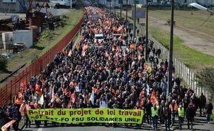 Manifestation départementale à Saint-Nazaire, jeudi 18 mai 2016.