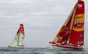 Trois équipages de trimarans Multi 50 engagés dans la Transat en double Jacques Vabre Le Havre (Seine-Maritime) - Puerto Limon (Costa Rica) ont abandonné, a annoncé samedi matin la direction de course.