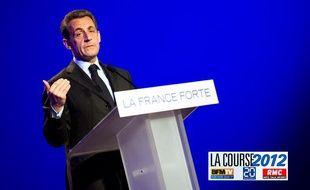 Nicolas Sarkozy en meeting à Arras, le 18 avril 2012.