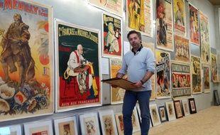 Xavier Thébault, directeur du Mana, le musée de l'affiche de Nantes.