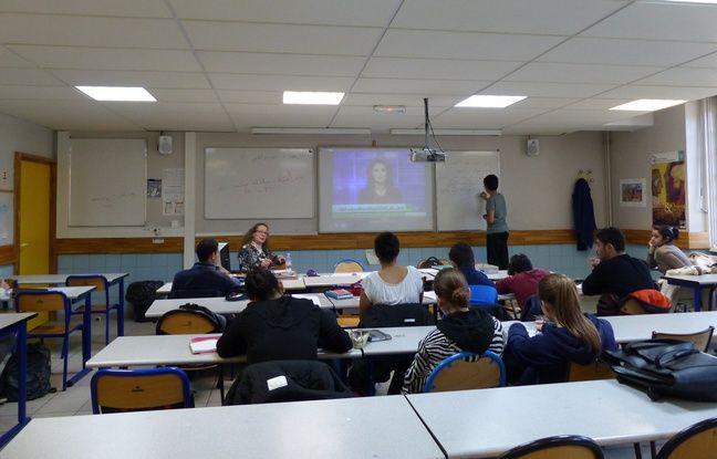 Des élèves en cours d'arabe au lycée Henri IV le 14/11/2018.