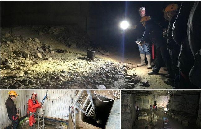 L'accès à la carrière Saingt nécessite des mesures de sécurité. Sous terre, l'obscurité, l'humidité et des vestiges de la Seconde Guerre mondiale.