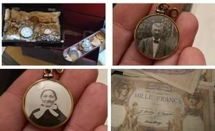 Une mallette avec des pièces, des montres, des bijoux, etc. a été découvert avec un testament dans un pavillon de l'Essonne. Les propriétaires recherchent les héritiers.