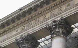 Façade de la Bourse de Paris.