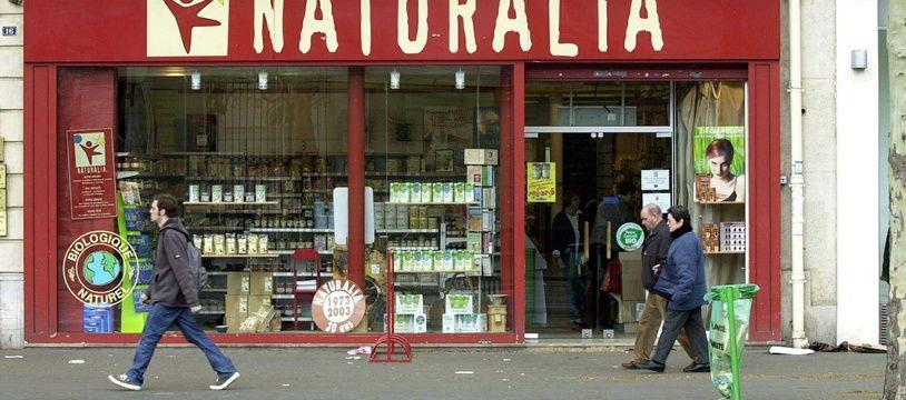 La devanture d'un magasin à Paris (illustration)
