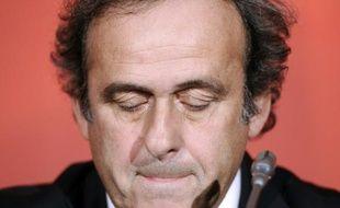 Michel Platini le 23 octobre 2012 au siège de la FFF à Paris