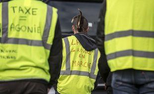 Des gilets jaunes lors d'un rassemblement en Haute-Garonne. Illustration