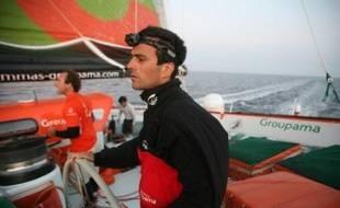 Parti d'Ouessant le 24 janvier, Franck Cammas espérait remporter sur son trimaran de 32 mètres le trophée Jules-Verne de tour du monde à la voile en équipage en battant le record de 50 j 16 h 20 min 04 sec établi en 2005 par Bruno Peyron sur Orange II.