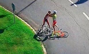 Une bagarre a éclaté à l'arrivée de la sixième du Tour du Portugal le 5 août 2014.