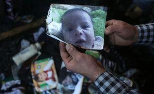 Une photo du bébé palestinien, publiée le 31 juillet 2015, décédé lors de l'incendie de la maison de sa famille dans lequel son père et sa mère sont également décédés à la suite de leurs blessures
