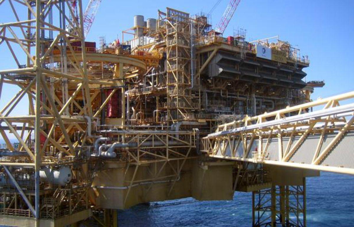 Une plateforme pétrolière de Total en mer du Nord. – AFP