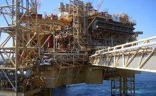 Une plateforme pétrolière de Total en mer du Nord.