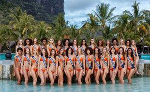 La photo officielles des trente candidates à Miss France 2019.