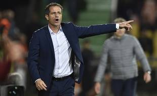 Philippe Hinschberger, ici en octobre 2017 en tant qu'entraîneur du FC Metz en Ligue 1.