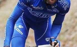 Le coureur français Geoffroy Lequatre, le 11 mars 2009 sur Paris-Nice.