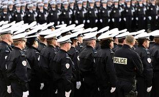 Des élèves de l'école de police de Nîmes, en novembre 2016