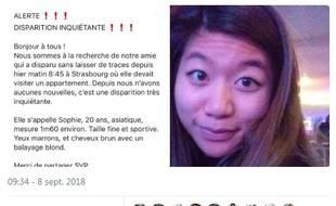 Plusieurs de ses amis ont lancé l'alerte via les réseaux sociaux dès ce samedi 8 septembre, le lendemain de la disparition de la jeune femme.