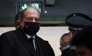 Le ministre de la Justice Eric Dupond-Moretti en visite à la prison de Saint-Maur le 1er février 2021.